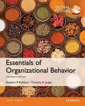 Cover of Essentials of Organizational Behavior, Global Edition
