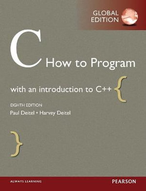 Cover of C How to Program, Global Edition
