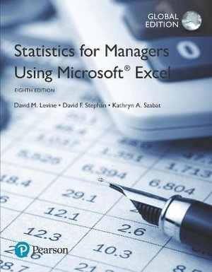 Cover of Statistics for Managers Using Microsoft Excel, Global Edition