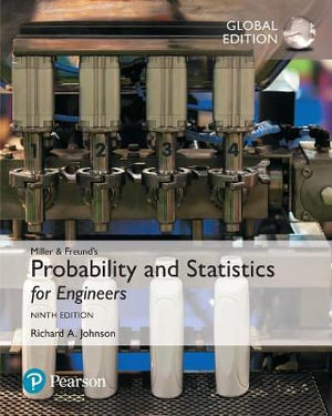 Cover of Miller and Freund's Probability and Statistics for Engineers, Global Edition