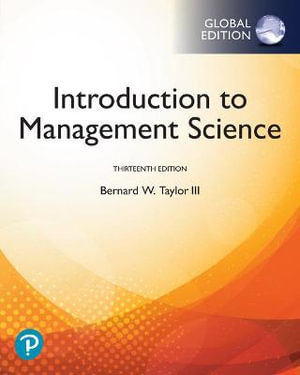 Cover of Introduction to Management Science, Global Edition