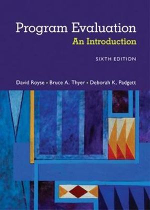 Cover of Program Evaluation: An Introduction to an Evidence-Based Approach
