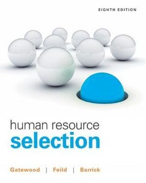 Cover of Human Resource Selection