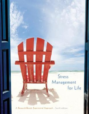 Cover of Stress Management for Life: A Research-Based Experiential Approach