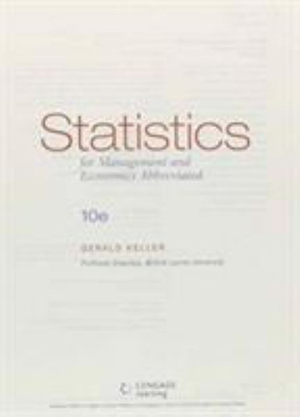Cover of Statistics for Management and Economics, Abbreviated