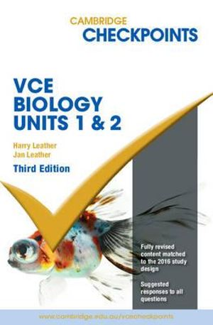Cover of Cambridge Checkpoints VCE Biology Units 1 and 2 Third Edition