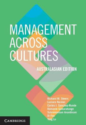 Cover of Management across Cultures - Australasian Edition Australasian edition