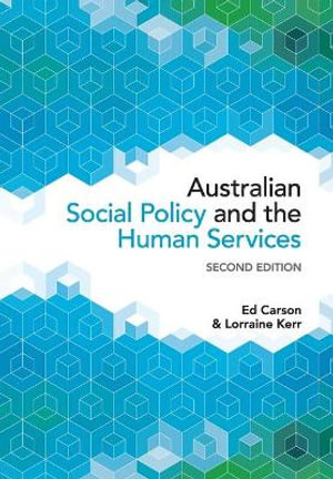Cover of Australian Social Policy and the Human Services
