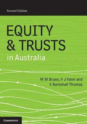 Cover of Equity and Trusts in Australia