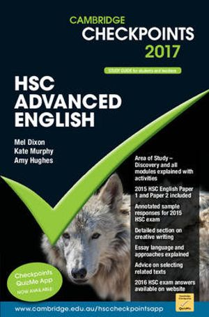 Cover of Cambridge Checkpoints HSC Advanced English 2017