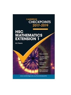 Cover of Cambridge Checkpoints HSC Mathematics Extension 1 2017-18