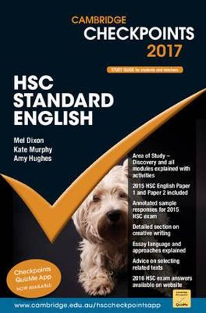Cover of Cambridge Checkpoints HSC Standard English 2017