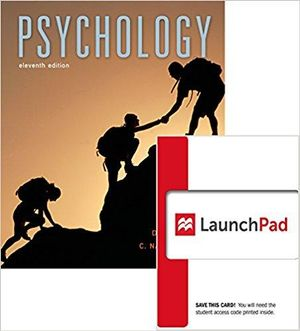 Cover of Psychology 11E & Launchpad for Myers' Psychology 11E (Six Month Access)