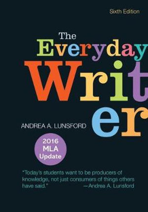 Cover of The Everyday Writer with 2016 MLA Update