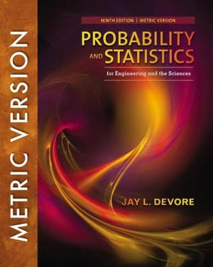 Cover of Probability and Statistics for Engineering and the Sciences, 9e, International Metric Edition