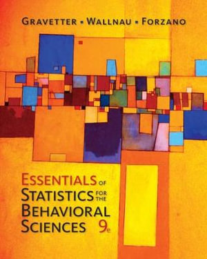 Cover of Essentials of Statistics for The Behavioral Sciences