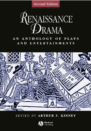 Cover of Renaissance Drama - an Anthology of Plays and     Entertainments 2E