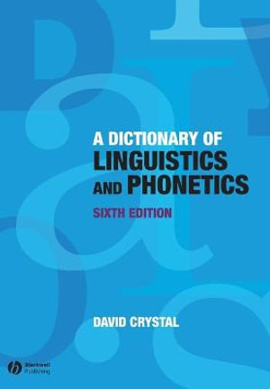 Cover of Dictionary of Linguistics and Phonetics