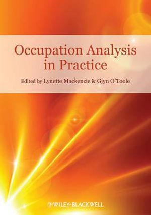 Cover of Occupation Analysis in Practice