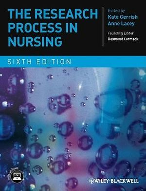 Cover of The Research Process in Nursing 6E