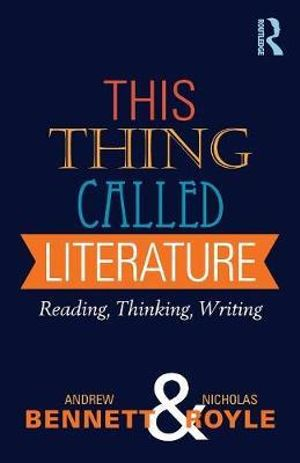 Cover of This Thing Called Literature