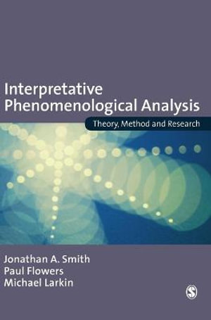 Cover of Interpretative Phenomenological Analysis