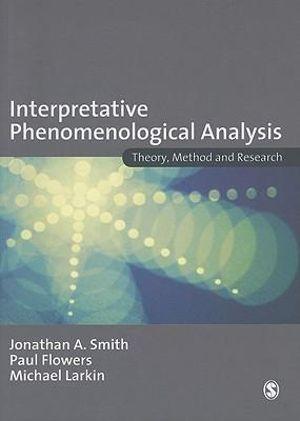 Cover of Interpretative Phenomenological Analysis