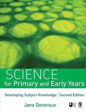 Cover of Science for Primary and Early Years: Developing Subject Knowledge 2ed