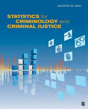 Cover of Statistics for Criminology and Criminal Justice