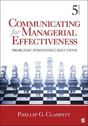Cover of Communicating for Managerial Effectiveness: Problems, Strategies, Solutions 5ed