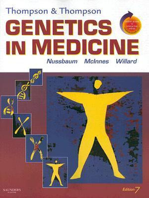 Cover of Thompson and Thompson Genetics Med 7th edition