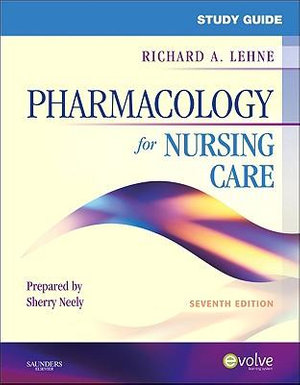 Cover of Study Guide for Pharmacology for Nursing Care