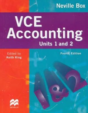 Cover of VCE Accounting Units 1 and 2