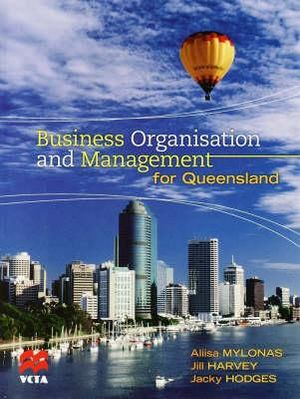 Cover of Business Organisation and Management for Queensland