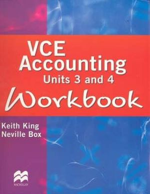 Cover of VCE Accounting Units 3 and 4 Workbook