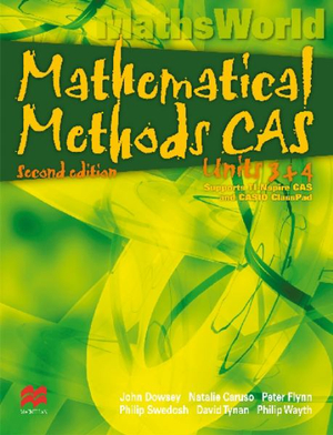 Cover of Mathematical Methods CAS Units 3 and 4