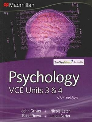 Cover of Psychology VCE Units 3 and 4 with online digital resource