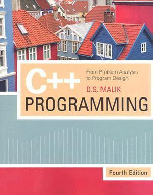 Cover of C++ Programming: From Problem Analysis to Program Design