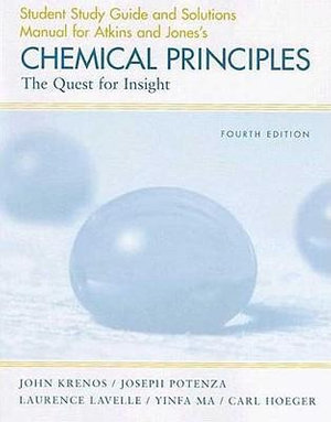 Cover of Chemical Principles Study Guide/Solutions Manual