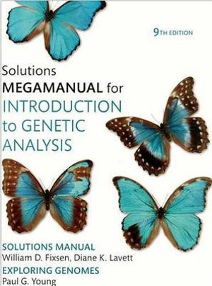 Cover of Solutions megamanual for introduction to genetic analysis