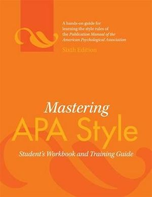 Cover of Mastering APA Style