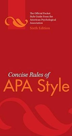 Cover of Concise Rules of APA Style