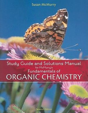 Cover of Study Guide with Solutions Manual for McMurry's Fundamentals of Organic  Chemistry, 7th