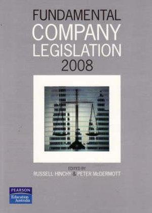 Cover of Fundamental Company Legislation 2008