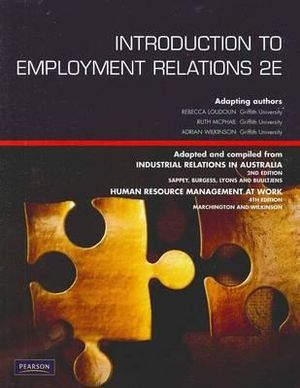 Cover of Introduction to Employment Relations Pearson Original