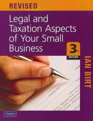 Cover of Legal and Taxation Aspects of Your Small Business