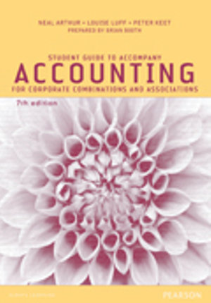 Cover of Student Guide to Accompany Accounting for Corporate Combinations and Associations 7th Edition