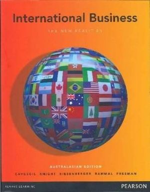 Cover of International Business: the new realities (Australasian edition)