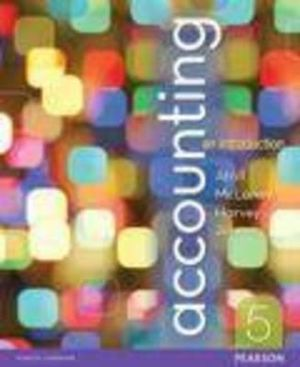 Cover of Accounting: an Introduction