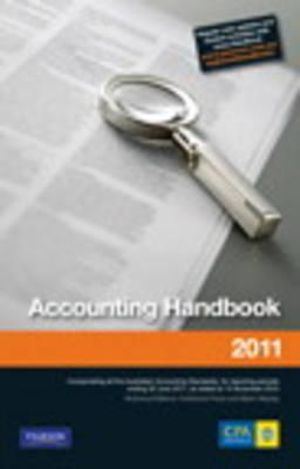 Cover of CPA Accounting Handbook 2011